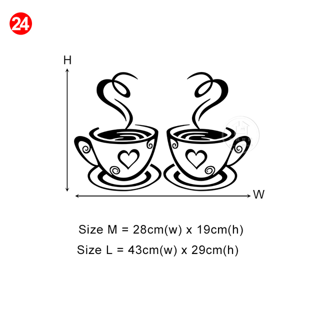 28 styles Coffee Wall Stickers for Kitchen Decorative Stickers Vinyl Wall Decals DIY Stickers Home Decor Dining Room Shop Bar 6