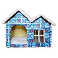 Переносной Домашний домик для кошек и собак Теплая двойная кровать