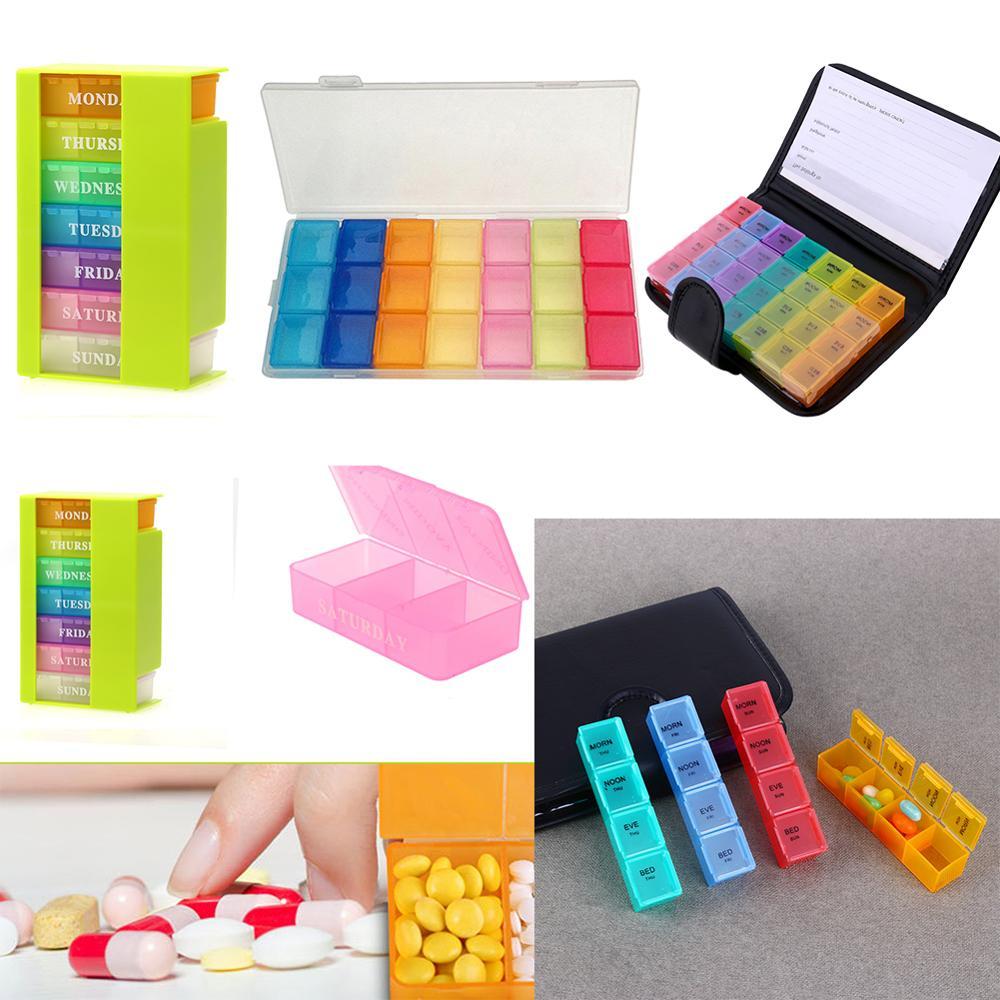 Taşınabilir 28 izgaralar hapları kutu tutucu tablet hap makinesi durumda ilaç depolama organizatör sağlıklı bakım aracı ile gökkuşağı renkli pu çanta