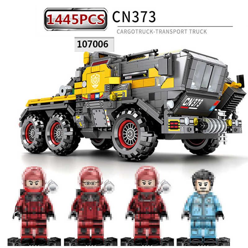 DHL Technic briques Sembo 107006 107007 107008 107009 la terre errante Compatible Legoed film camion voiture bloc de construction jouets