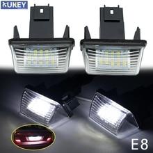 2PC LED License Number Plate Light Lamp For Citroen C3 C4 C5 Berlingo Saxo Xsara Picasso For Peugeot 206 207 306 307 308 406 407