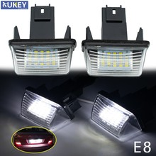 Luz de placa de matrícula LED, para Citroen C3, C4, C5, Berlingo, Saxo, Xsara Picasso, Peugeot 206, 207, 306, 307, 308, 406, 407, 2 uds.