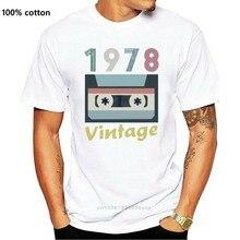1978 aniversário retro vintage 40th ano velho mixtape camisa presente de aniversário t-shirtcartoon t camisa masculina unisex nova moda tshirt