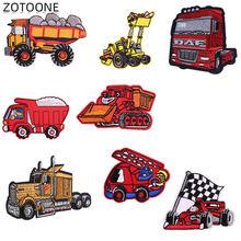 ZOTOONE de dibujos animados Parches de coche Parches Bordados Para La Ropa de rayas Ropa Parches DIY Para Ropa insignias C
