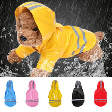 S-XL Pets Dog Clothes Hooded Raincoats Reflective Strip Dogs Rain Coat Waterproof Jackets Outdoor Breathable Clothes For Puppies
