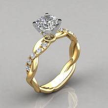 Classic Engagement Rings for Women AAA White Cubic Zircon Female Rhinestone Wedding Band