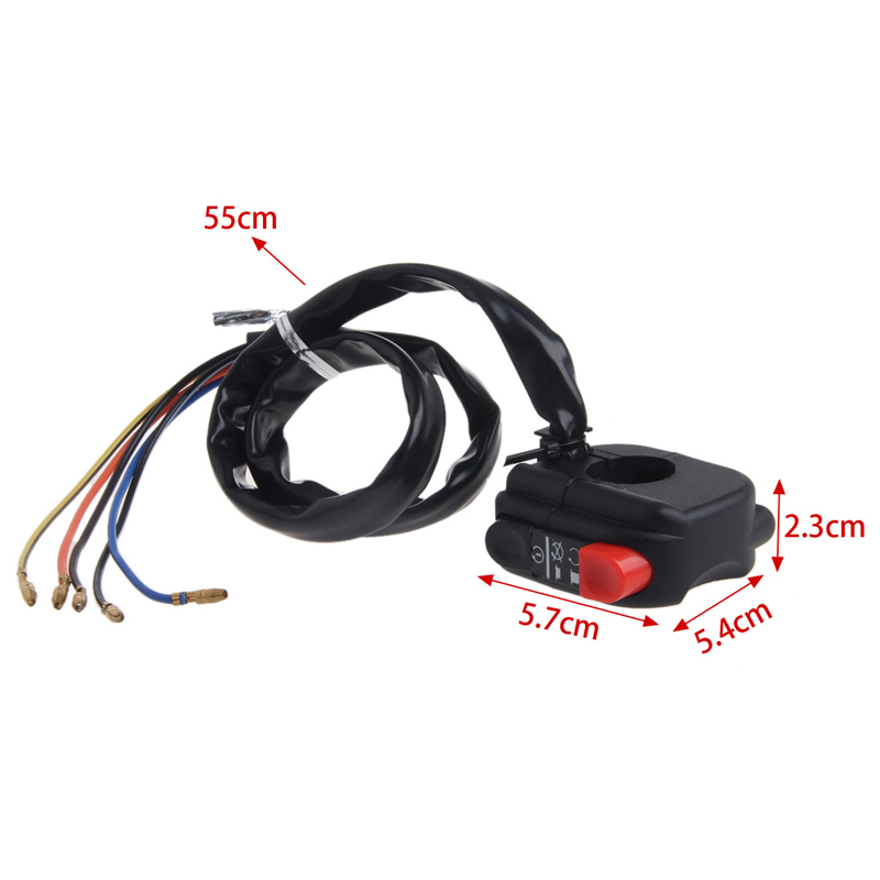 2 Function Motorcycle Handlebar Headlight Head Light On Off Horn Switch 22mm Bar