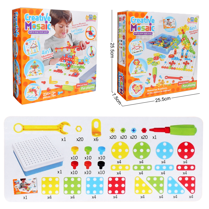 Ultimate SaleToys Blocks-Sets Educational-Toys Electric-Drill Building-Design Boys Children Assembled