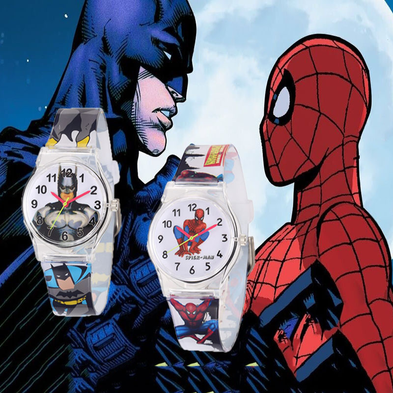 2020 New Stylish Kids Watches Boys Batman Cartoon Waterproof Children Watch Spiderman Silicone Strap Quartz Clock Montre Enfant