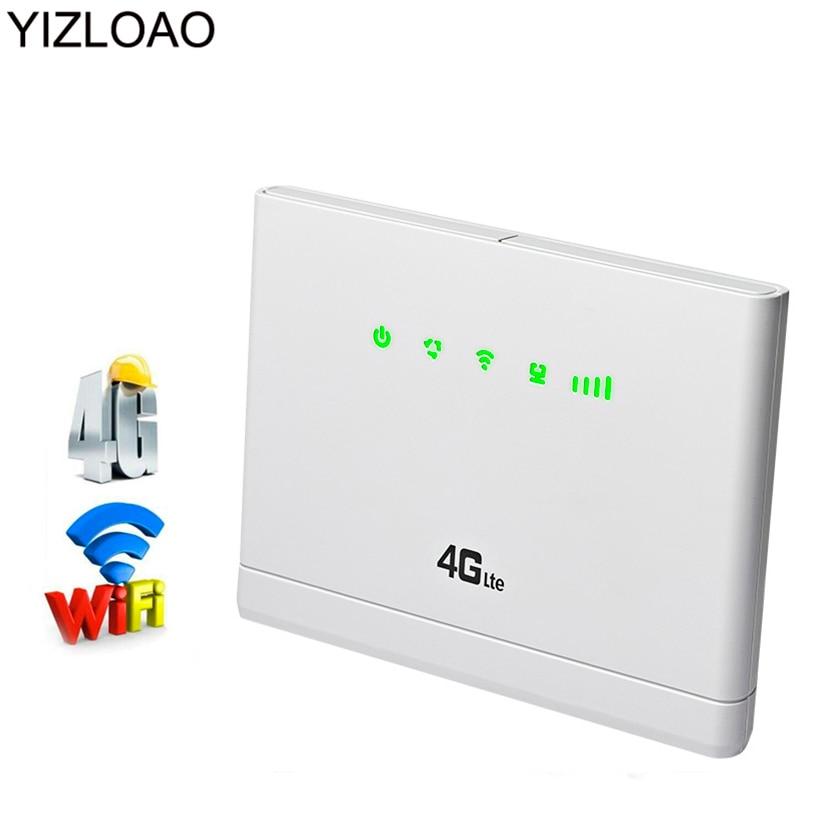 YIZLOAO 4G 3G Mobile/Wifi/Unlock Router Sim Card with External Antenna 4g Wifi Router Broadband Mini Modem Hotspot Access Point