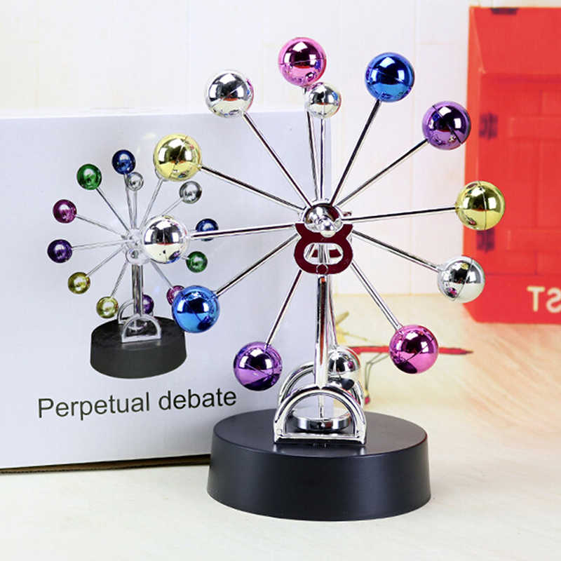 Perpetual Motion Toy Colorful Revolving Balance Balls A Desk Executive Toy