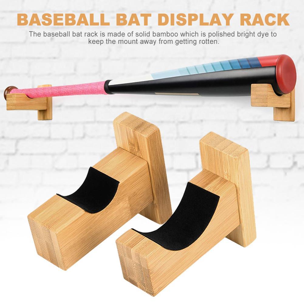 2PCS Baseball Bat Display Rack Wall Mounted Bat Holder Bat Display Case For Placing Baseball Bat Softball Bat Hockey Stick Base