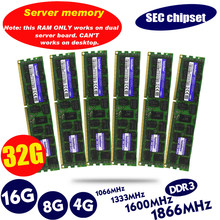 Originele 8GB DDR3 1333MHz 1600Mhz 1866Mhz 8G 1333 1600 1866 REG ECC server geheugen RAM 16gb 16g 32gb 32g x58 x79 2011 4GB 4G ECC(China)