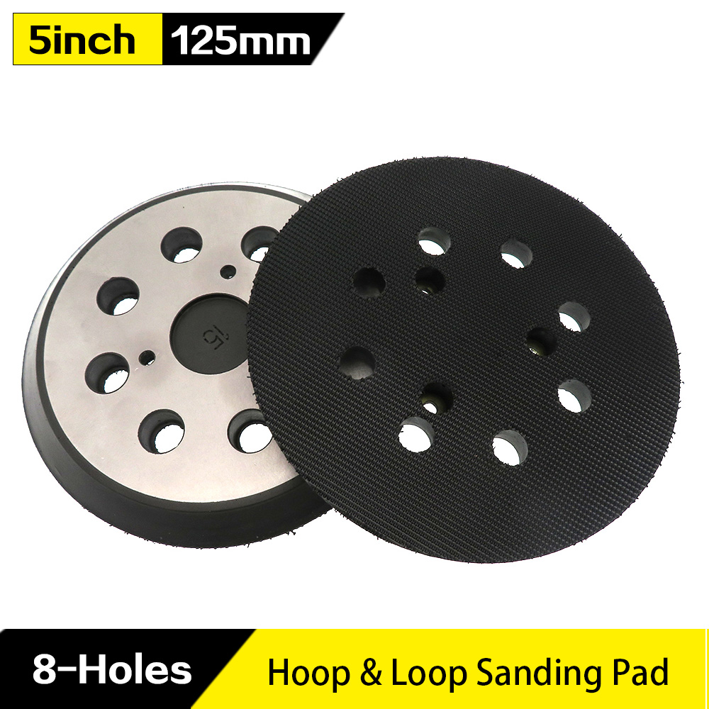 5 Inch 8 Hole Replacement Sander Pads Polishing Sanding Backing Plates Hook And Loop Sanding Pad For Makita Electric Grinder