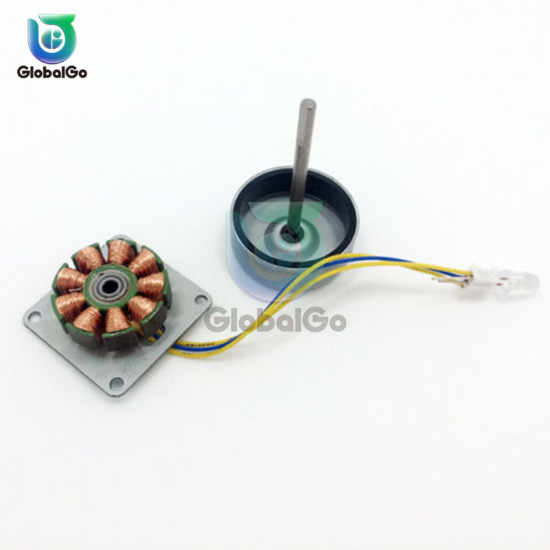 Micro Three Phase AC Wind Generator Turbines Brushless Motor Hand Cranked Generator 3-24V 0.1A-1A 0.5-12W LED DIY Kit