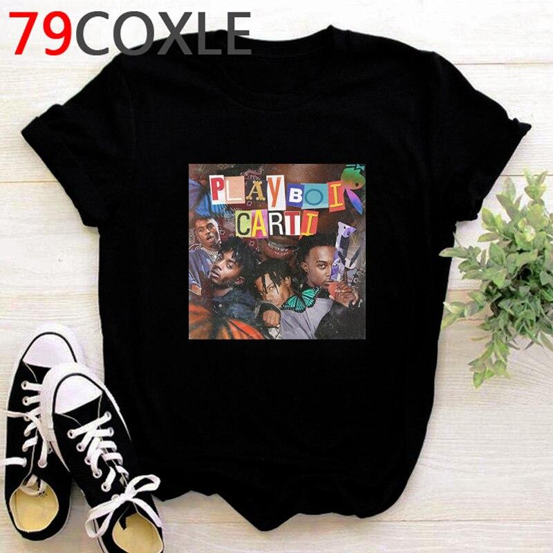 Rapper Playboi Carti T Shirt Men Hip Hop Summer Top Cartoon T-shirt Kawaii Die Lit Graphic Cool Harajuku Oversized Tshirt Male