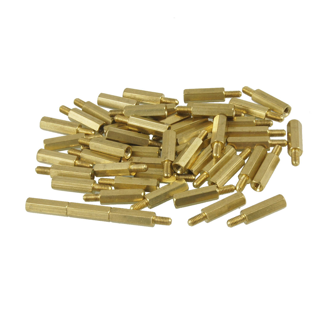 uxcell 50 Pcs Screw PCB Stand-off Spacer Hex <font><b>M3</b></font> Male x <font><b>M3</b></font> Female <font><b>15mm</b></font> Length image