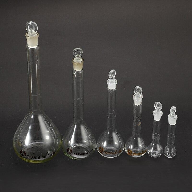 Лабораторные принадлежности с пробкой, прозрачная стеклянная колба объемом 5-100 мл, стеклянная посуда с пробкой, лабораторная химия