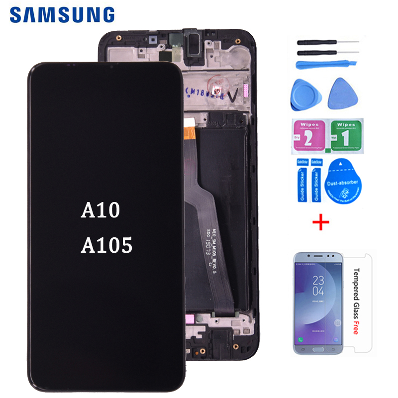 Original For <font><b>Samsung</b></font> galaxy <font><b>A10</b></font> <font><b>lcd</b></font> Digitizer A105/DS A105F A105FD A105A Display Touch <font><b>Screen</b></font> Digitizer Assembly image
