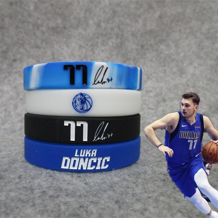 A Lone Ranger Basketball Signature East 77 East Dačić Bracelet Star Night Light Silica Gel Sports Wrist Strap Bracelets Ball