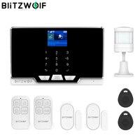 BlitzWolf 2G GSM & 433Mhz & WIFI Smart Home Security Alarm System Kits Door & Window Sensor PIR Motion Detected RFID Smart Host