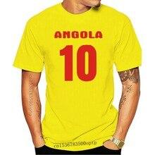 2019 neue männer T-shirt ANGOLA Lander Flagshirt mit Ruckennummer t hemd