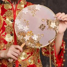Свадебный букет невесты janevini золотой цветочный веер в китайском