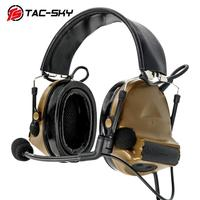 outdoor sports TAC-SKY COMTAC II silicone earmuffs version outdoor hunting sports hearing defense noise reduction pickup tactical headset CB (2)