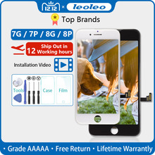 White&Black Lifetime Assurance Quality AAAAA Brand New For iPhone 7 7G i7 4.7 LCD Display Touch Screen Digitizer Assembly+Gift