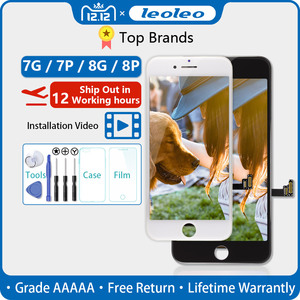 Image 1 - White&Black Lifetime Assurance Quality AAAAA Brand New For iPhone 7 7G i7 4.7 LCD Display Touch Screen Digitizer Assembly+Gift