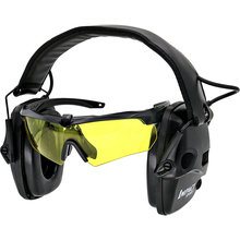 Electronic Shooting Headphone Anti-Noise Amplification Tactical Hearing Protection Headset Specialized Eyeglasses Earmuffs advanced modular headset cover molle headband for general tactical earmuffs microphone hunting shooting headphone cover