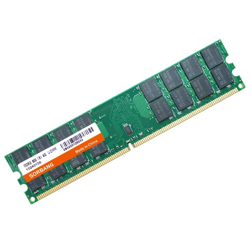 SORBANG Оперативная память DDR2 4G 800 2 шт * 4 Гб DDR2 8 Гб DDR2 800 МГц PC2-6400 для настольных компьютеров Оперативная память 240 булавки для AMD Системы Высокая ...