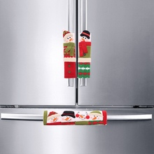 Christmas Decoration Refrigerator Door Handle Covers Cartoon Cute Microwave Door Refrigerator Handle Sets Christmas Gift