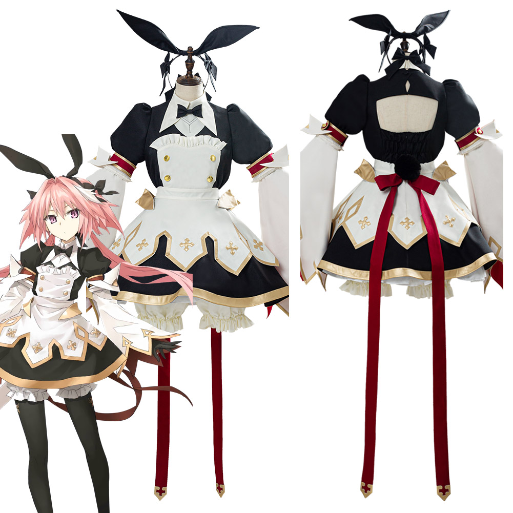 Fate/grand Order FGO Astolfo Saber Cosplay Costume Sword Version 3.0 Combat Gear Maid Dress Uniform