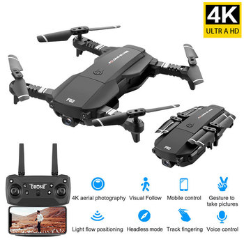 Drone 4K RC Quadcopter With Camera Foldable FPV Wifi Wide Angle High Hold RC Helicopter Selfie Drone Kid's Toys