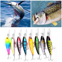 Fishing Wobblers Diving Artificial Plastic Minnow Fishing Lure Hard Bait 3D Eyes 9cm 8.3g Hard Bait Fishing Tackle Hot In Sale