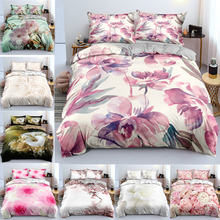 Bedding-Set Cover Superking 3d-Printed Single Two-People Flower-Of-Clothing UK Adornment