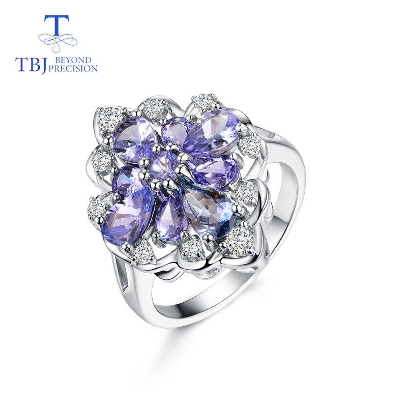 TBJ... anillo de tanzanita piedra preciosa natural en plata de ley 925 joyería de piedra preciosa brillante de lujo para mujer mamá esposa como regalo-in Anillos from Joyería y accesorios    1