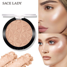 Sace Lady 6 Kleur Highlighter Poeder Glitter Palet Make-Up Glow Gezicht Contour Shimmer Illuminator Hoogtepunt Cosmetica(China)