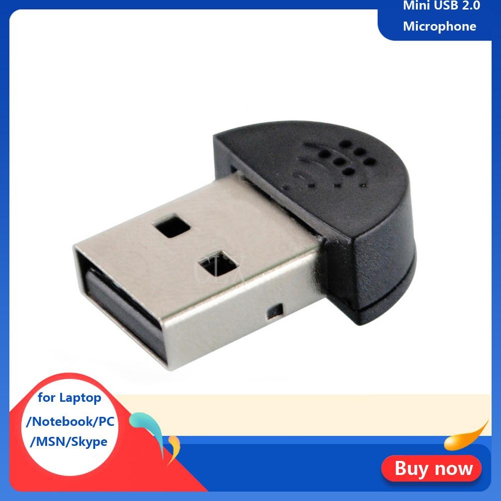 Mini USB 2.0 Microphone Portable Studio Speech Mic Audio Adapter Driver Free For Laptop/Notebook/PC/MSN/Skype