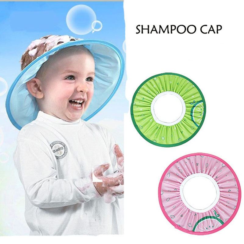 Baby <font><b>Shower</b></font> <font><b>Caps</b></font> <font><b>Shampoo</b></font> <font><b>Cap</b></font> <font><b>Wash</b></font> <font><b>Hair</b></font> <font><b>Kids</b></font> <font><b>Bath</b></font> Visor <font><b>Hats</b></font> Adjustable Shield Waterproof Ear Protection Eye Children <font><b>Hats</b></font> Infant image
