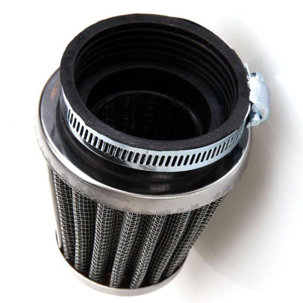 2pcs <font><b>54mm</b></font> Motorcycle <font><b>Air</b></font> <font><b>Filter</b></font> Inlet Cleaner <font><b>Filter</b></font> With Hose Clamp Universal image