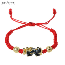 JAVRICK Pi Xiu Charm Color Change Temperature Kabbalah Red String Braided Mood Bracelets feng shui pi xiu charm red string bracelet color change kabbalah braided mood bracelets attract wealth good luck jewerly