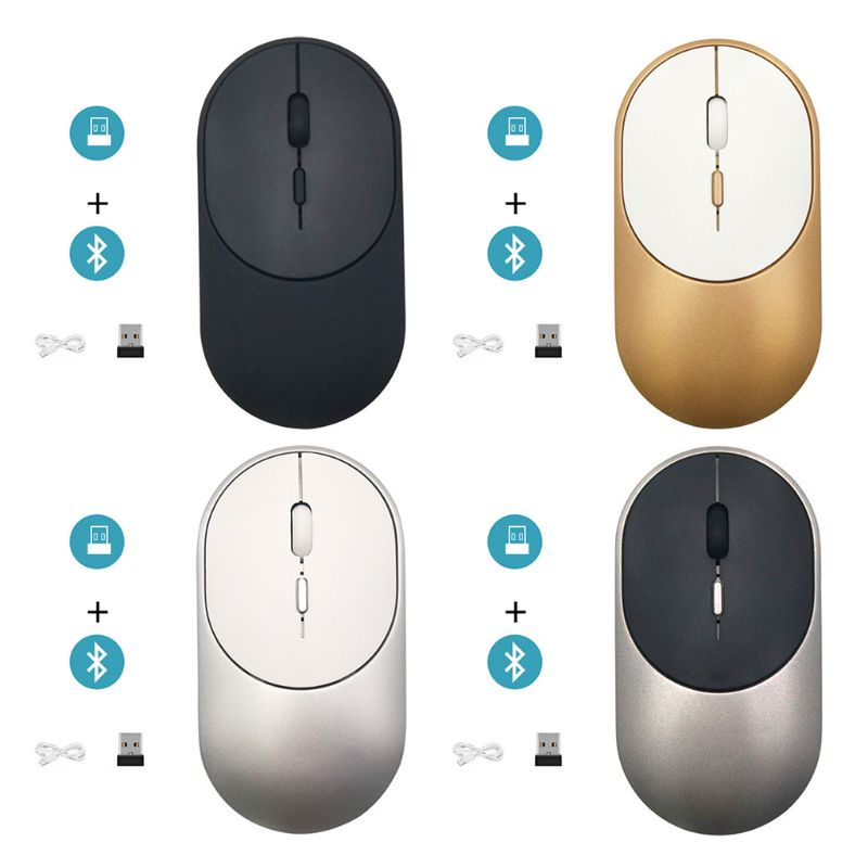 Ultra-thin Wireless Mouse Bluetooth 5.1+2.4G Dual Mode Gaming Optical Mice N0HC