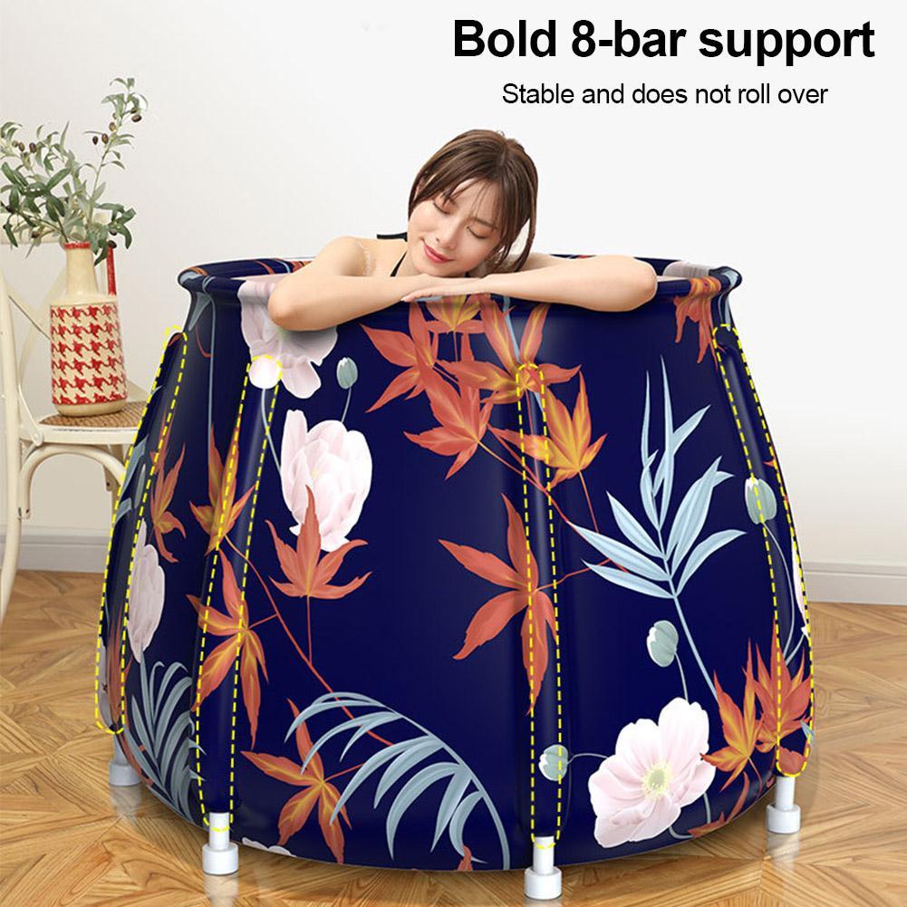 Suporte de tecido estilo pvc adulto dobrável barril de banho doméstico mais algodão barril banho grande corpo tambor banho de vapor pode ser armazenado|Banheiras infláveis e portáteis|   -
