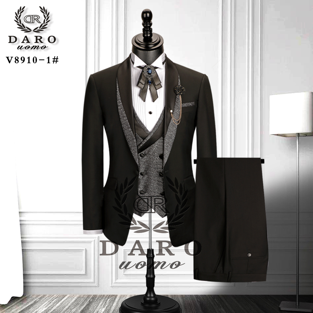 Bridegroom Black Suit Desingn 2020 Party Tuxedo Groom Suit DARO Fitting NEW Tuxedo Wedding