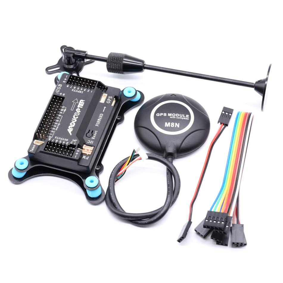 Apm2.9 apm2.8 placa de controlador de voo, suporte ppm apm2.6 2.8 atualizado bússola para rc quadcopter multicopter ardupilot