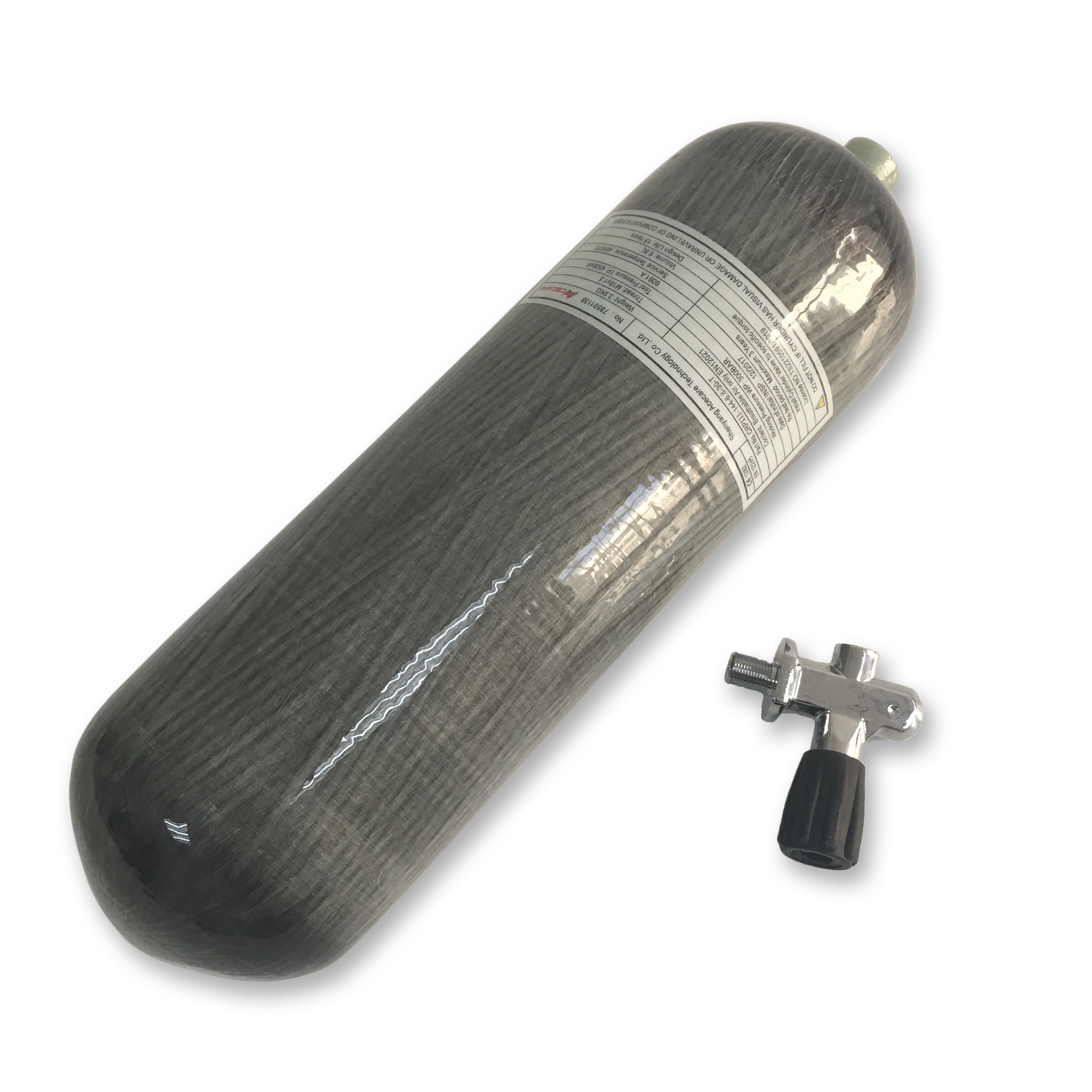 AC16851 Acecare 4500Psi 6.8L CE PCP/HPA Carbon Fiber Cylinder With Diving Valve Paintball Scuba Tank Airsoft Airforce Condor Gun