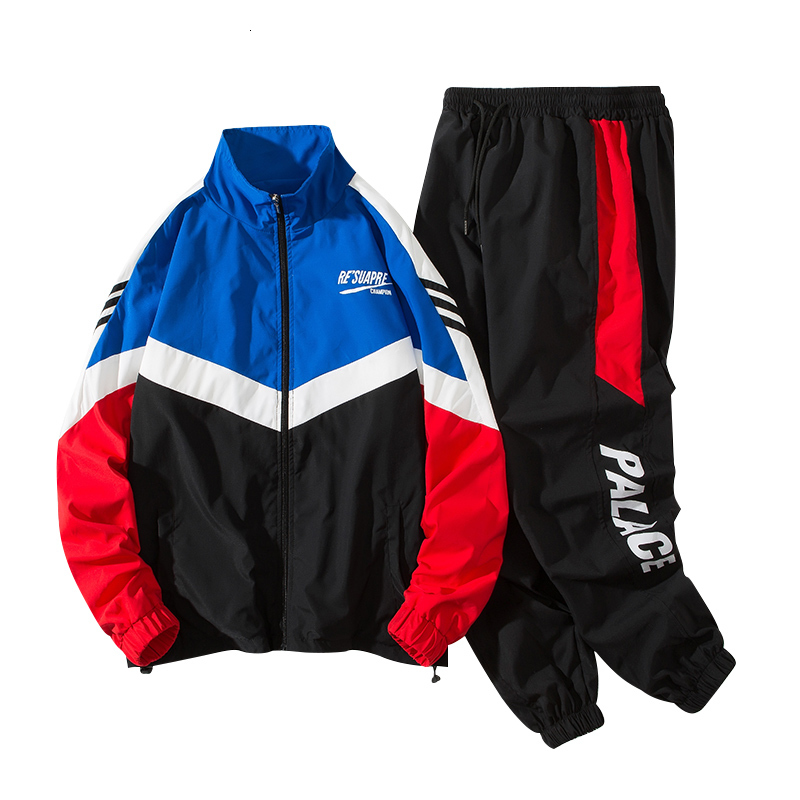 Autumn Tracksuit For Men Trend Twinset Lovers Two Piece Set Jacket And Pant Ropa Deportiva Hombre Moda Survetement Homme 2 Piece