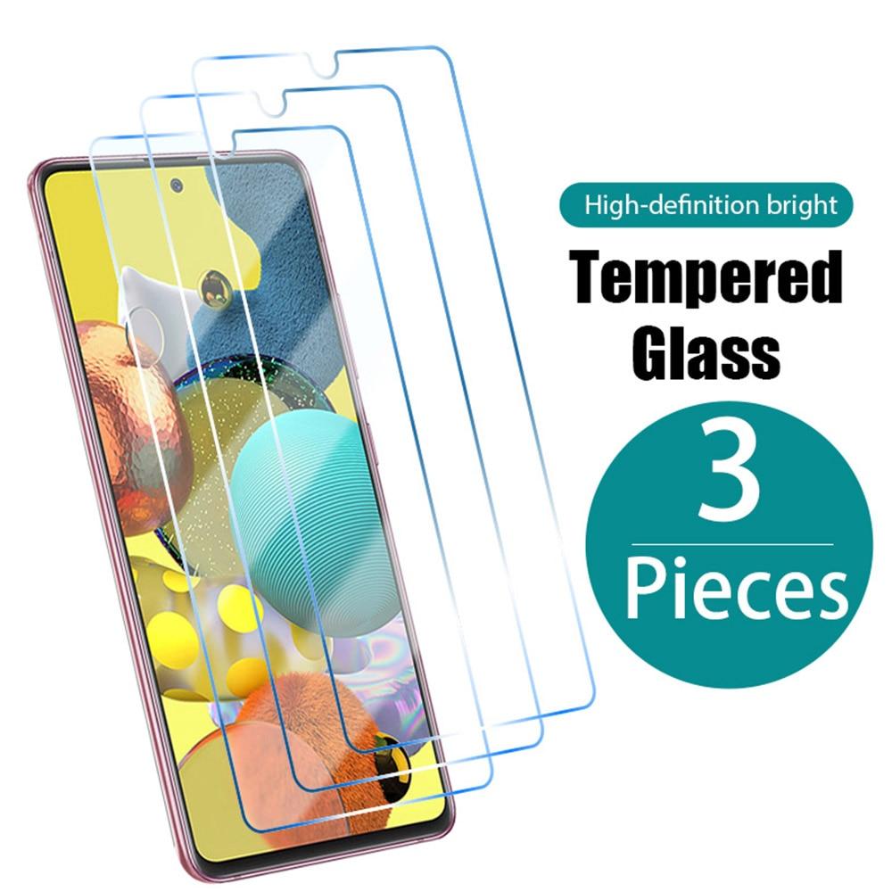 Защитное стекло, закаленное стекло для Samsung A51/A31/A41/A71/A01/A11/A21S/A20S/A20E/A30/A40/A70/A50, 3 шт.